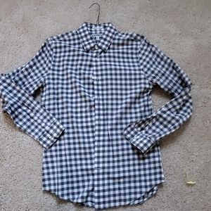 Express extra slim fit plaid button down